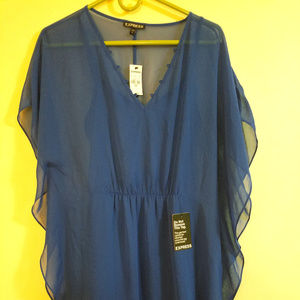 Express Blue Caftan Dress New with Tags